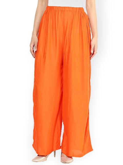 Castle Orange Palazzo Trousers