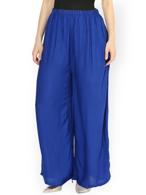 Castle Blue Palazzo Trousers