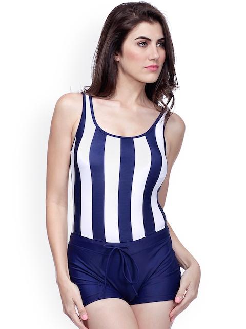 Heart 2 Heart Navy & White Striped Swimwear