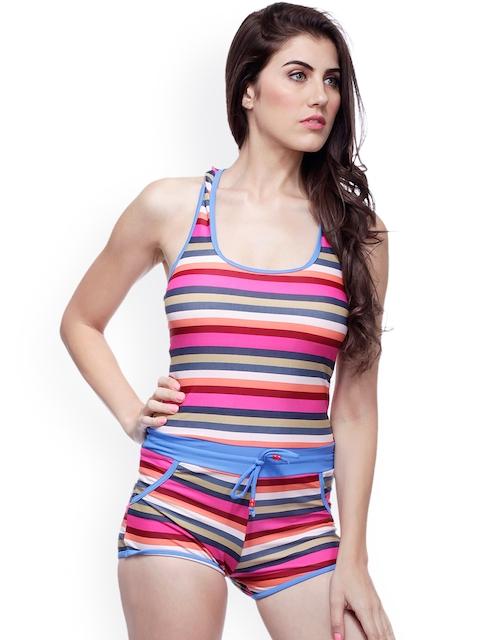 Heart 2 Heart Multicoloured Striped Swimwear LSW 46