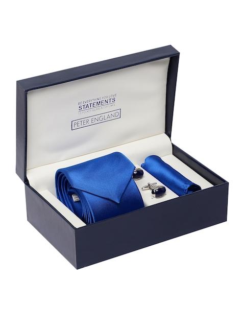 Peter England Men Blue Accessory Gift Set