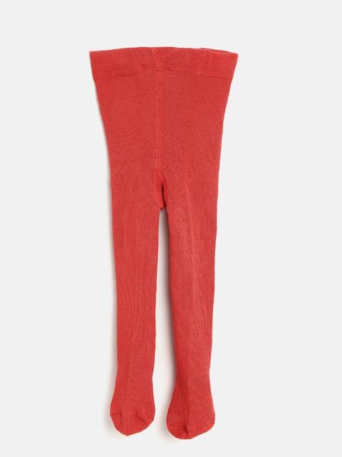 Nauti Nati Girls Red Solid Stockings