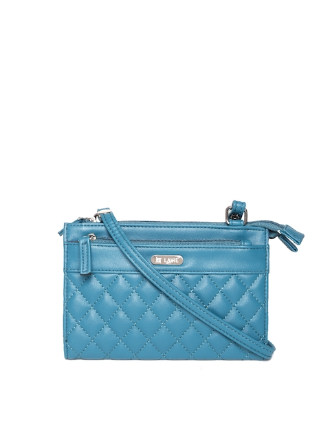 Lavie Teal Blue Quilted Sling Bag  available at myntra for Rs.930