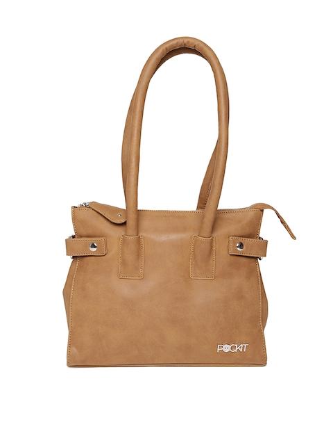 POCKIT Camel Brown Shoulder Bag