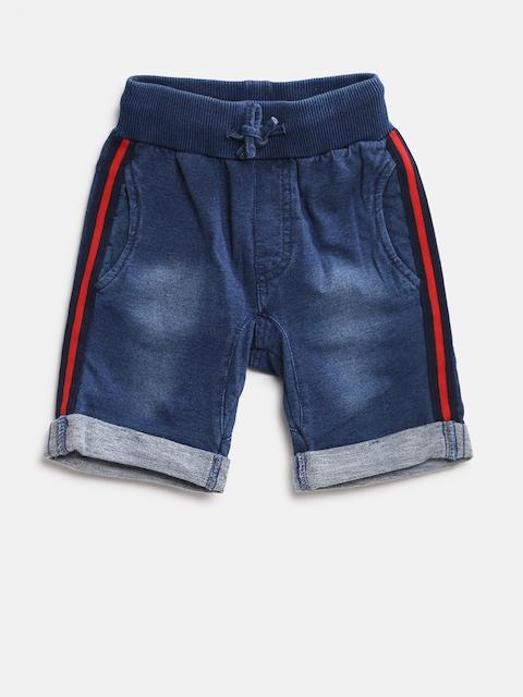 Fox Garçons Bleu Marine Lavé Regular Fit Denim Shorts