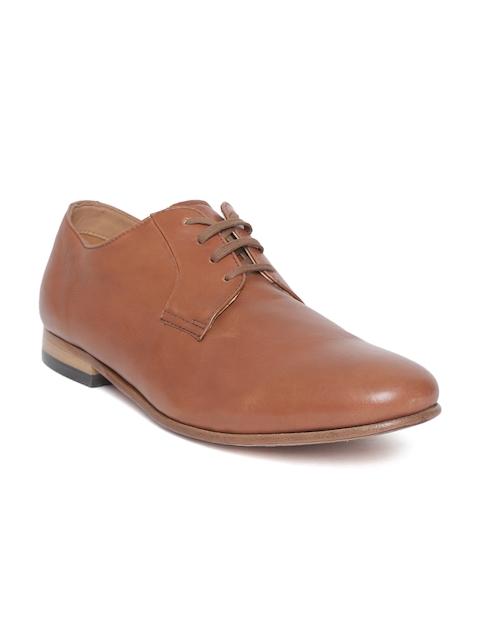 Clarks Men Tan Brown Leather Formal Derbys