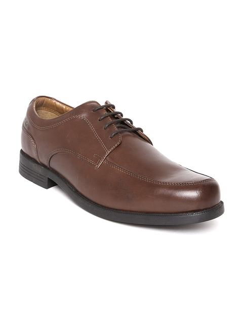 Clarks Men Brown Leather Formal Shoes