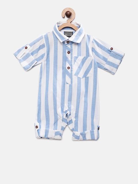 RIKIDOOS Kids Blue Striped Romper