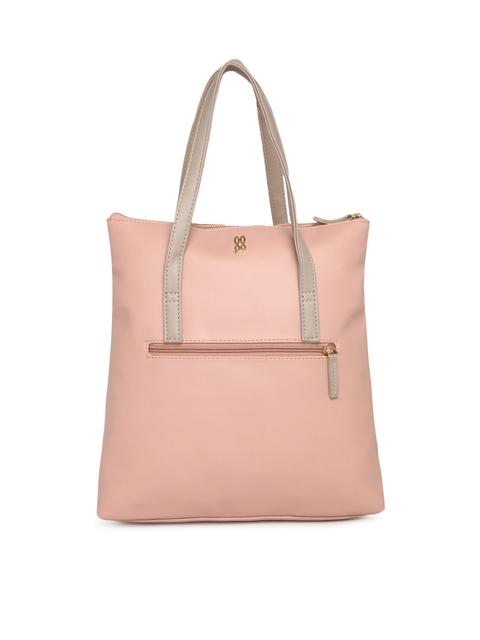 Baggit Peach-Coloured Solid Handheld Bag
