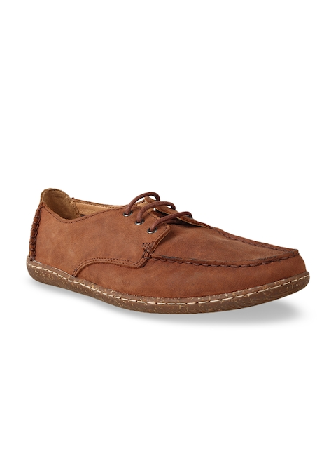 Clarks Men Tan Brown Leather Loafers