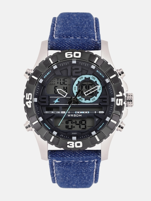 Fastrack Men Black Analogue and Digital Watch 38035SL05