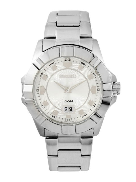 SEIKO LORD Men Silver-Toned Dial Watch SUR127P1