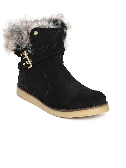Carlton London Women Black Suede Boots