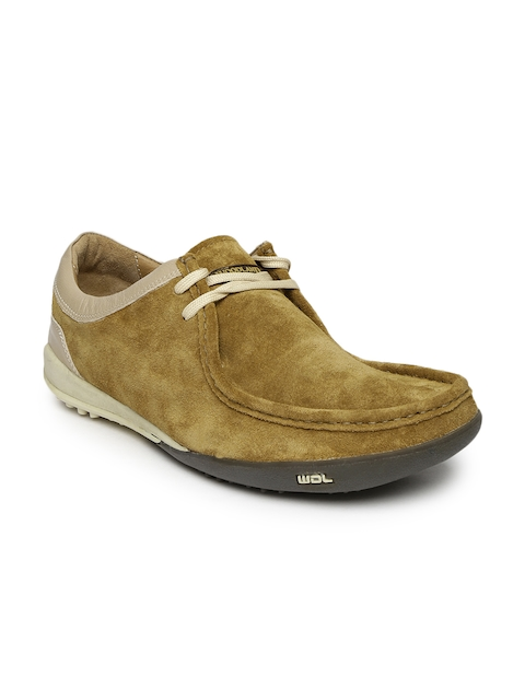 Woodland Men Brown Suede Casual Shoes
