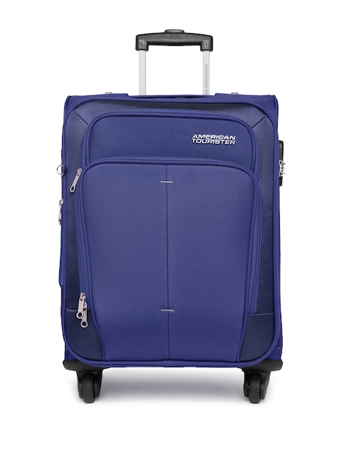 AMERICAN TOURISTER Unisex Blue Small Trolley Bag