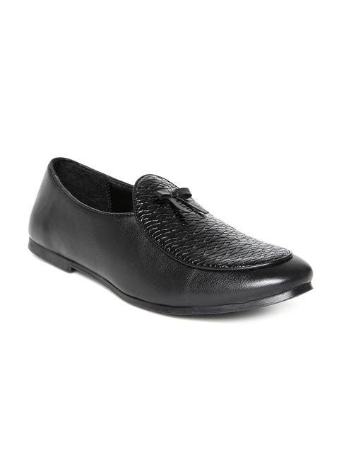 bacca bucci Men Black Basket Weave Casual Shoes