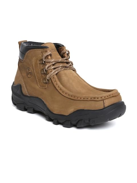 bacca bucci Men Brown Leather Boots