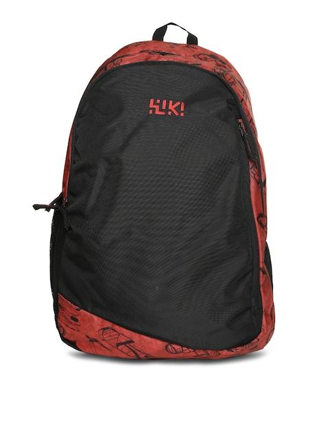 Wiki by Wildcraft Unisex Red & Black Vault Printed Backpack