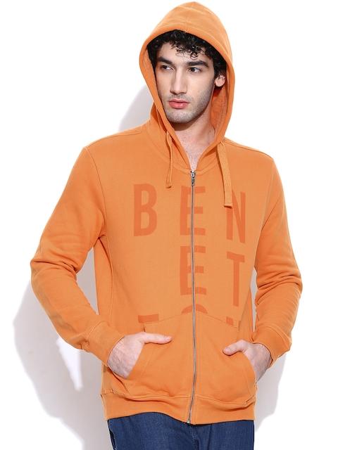 United Colors of Benetton Orange Hooded Sweatshirt