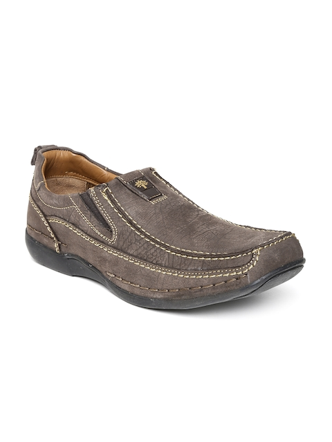 Woodland ProPlanet Men Brown Leather Slip-Ons  available at myntra for Rs.1847