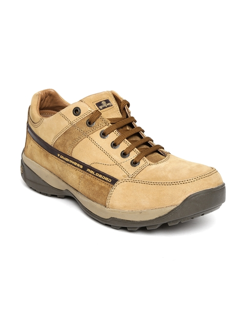 Woodland ProPlanet Men Beige Leather Casual Shoes