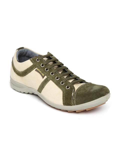 Woodland ProPlanet Men Green Suede Casual Shoes