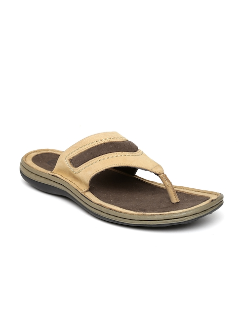 Woodland ProPlanet Men Camel Brown Leather Sandals  available at myntra for Rs.1621