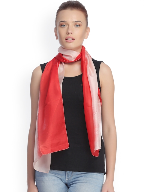 CoolThreads Red & Peach-Coloured Stole