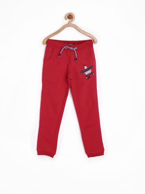 Tommy Hilfiger Girls Red Track Pants