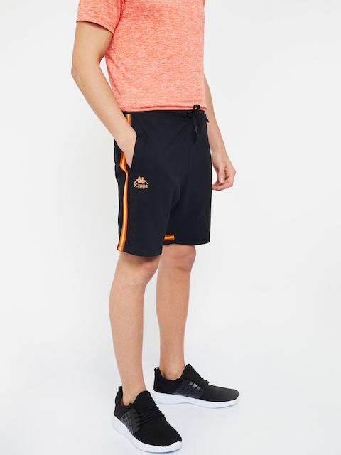 Kappa Men Black Solid Regular Shorts