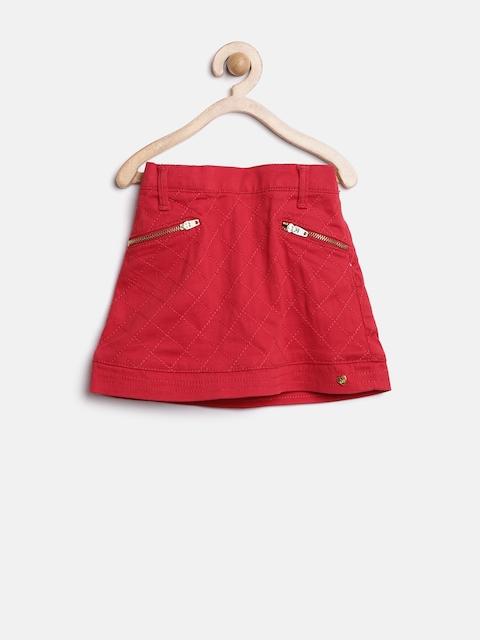 Gini & Jony Girls Red A-Line Skirt