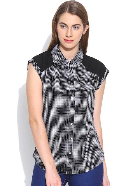 Being Human Clothing Black & White Dot Print Shirt