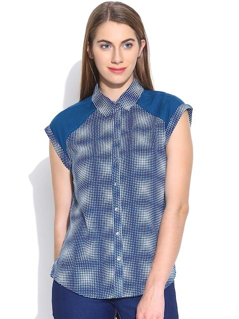 Being Human Clothing Blue Dot Print Shirt
