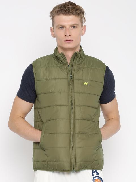 Wildcraft Olive Green Sleeveless Puffer Jacket
