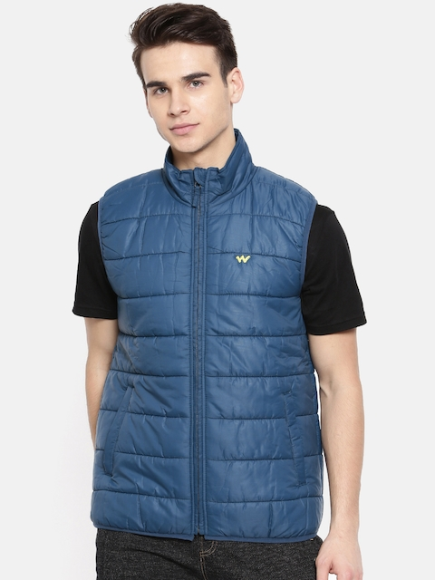 Wildcraft Blue Sleeveless Puffer Azi Husky Packable Jacket