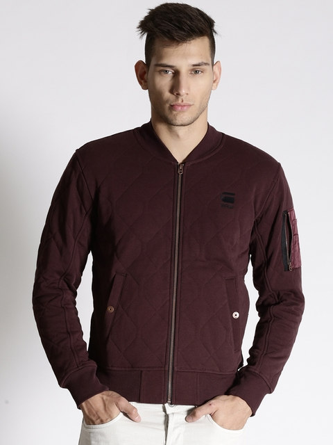 G-STAR Raw Maroon Quilted Jacket