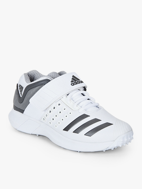 Adipower Vector Mid White Cricket Shoes