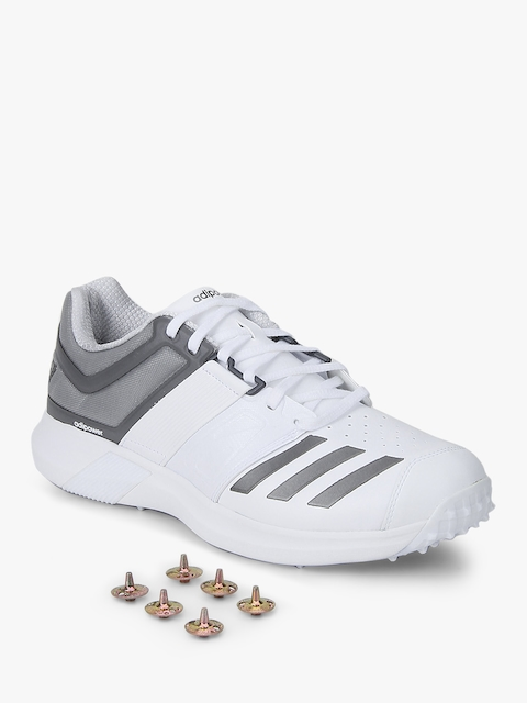 Adipower Vector White Cricket Shoes
