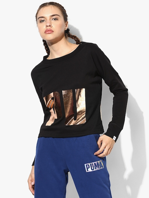 India Cropped Black Sweatshirt