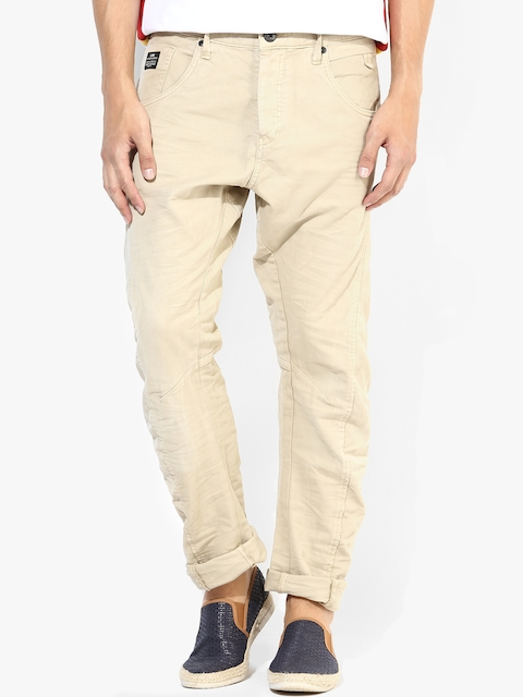 Beige Regular Fit Jeans