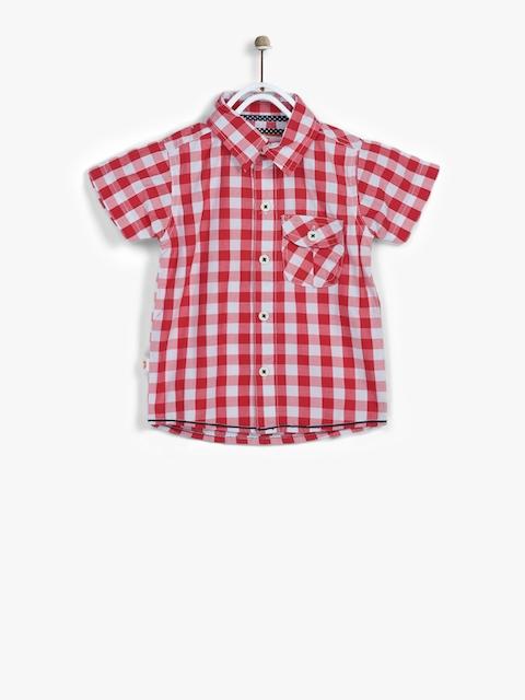 Red Regular Fit Casual Shirt