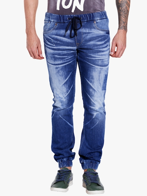 Blue Washed Slim Fit Joggers
