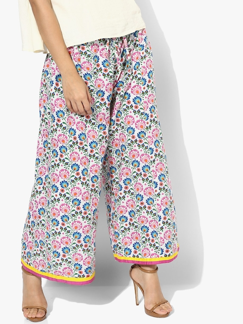 Multicoloured Printed Regular Fit Palazzo