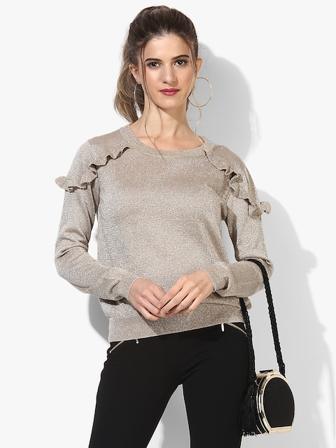Beige Embellished Sweater