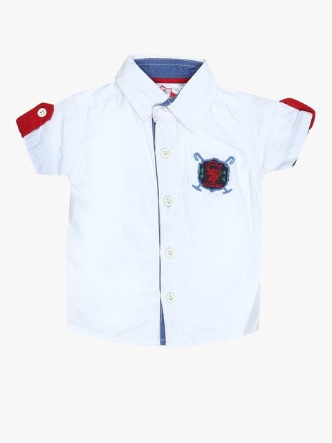 White Regular Fit Casual Shirt