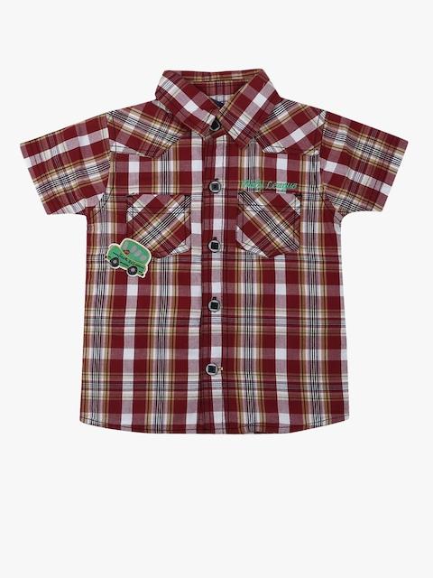 Maroon Regular Fit Casual Shirt