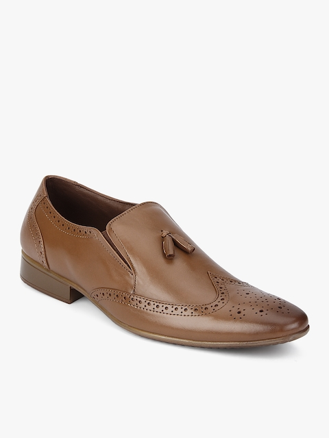 Tan Slip-On Formal Shoes
