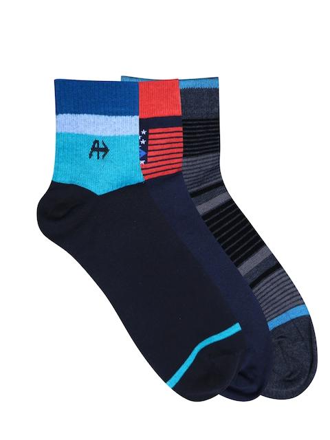 Arrow Men Pack of 3 Assorted Ankle Length Socks