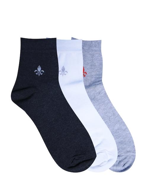 Calzini Men Pack of 3 Muticoloured Patterned Ankle-Length Socks