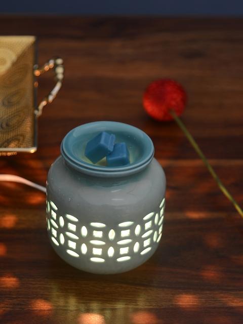 Athome by Nilkamal Set of 3 Blue Aqua Mist Candle Wax Tarts